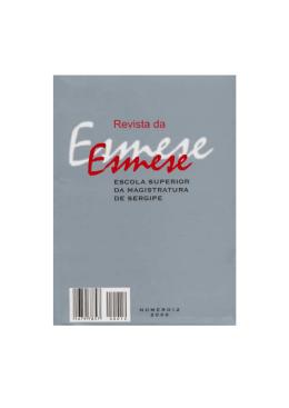 Revista da Esmese 12.pmd - Diário da Justiça de Sergipe