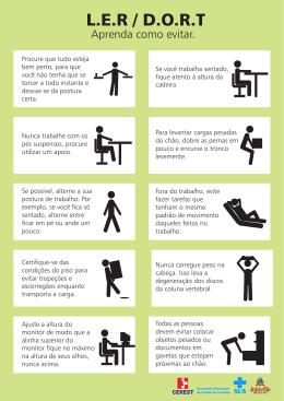 Folder Prevenção LER/DORT