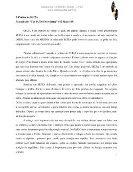 A Prática de SEIZA - Associação de Aikido da Bahia