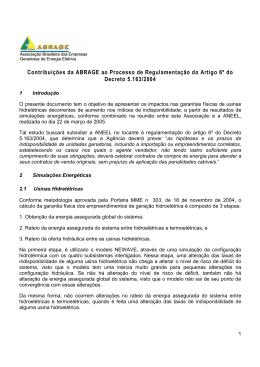 Contribuições da ABRAGE ao Processo de Regulamentação do