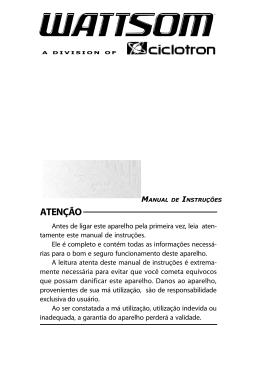 Manual de instruções W POWER II 9000 AB