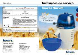 hawos Novum Instruções de serviço