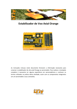 Estabilizador de Voo Axial Orange