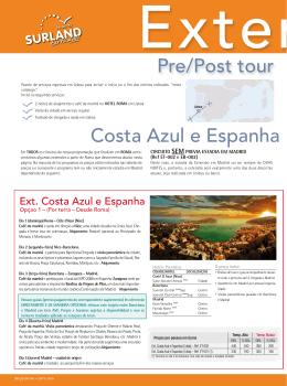 Pre/Post tour em Lisboa Costa Azul e Espanha (Desde Ro