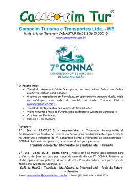 Pacote 7º CONNA - Congresso Norte e Nordeste de