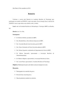 Relatório - Academia Brasileira de Neurologia