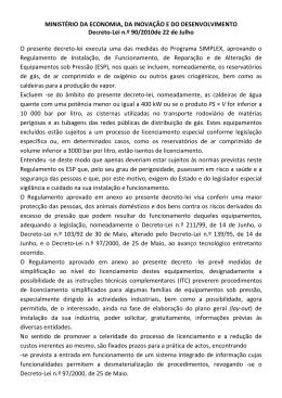 Decreto-Lei nº 90/2010 22 Julho 2010 • Sector Industrial pdf O
