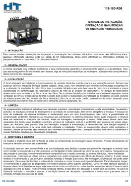 Manual - Unidades Hidráulicas - HT