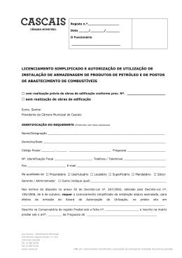 Licenciamento simplificado e Autorização de utilização