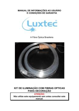 kit de iluminação com fibras opticas para decoração