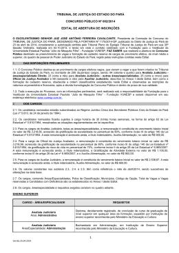 TRIBUNAL DE JUSTIÇA DO ESTADO DO PARÁ CONCURSO