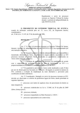 Instrução Normativa STJ/GP n. 15 de 15 de novembro de