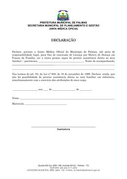 junta medica oficial - Prefeitura de Palmas