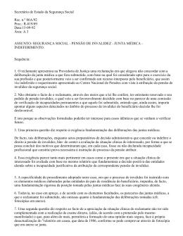 SEGURANÇA SOCIAL - Provedor de Justiça