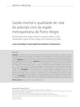 Saúde mental e qualidade de vida de policiais civis da