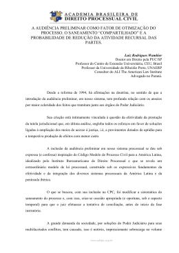 Audiencia Preliminar_Luiz Rodrigues Wambier
