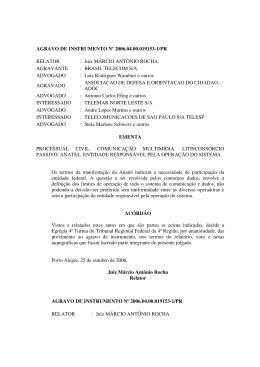 AGRAVO DE INSTRUMENTO Nº 2006.04.00.019153