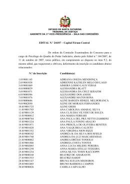 Edital 244/07 - Tribunal de Justiça de Santa Catarina