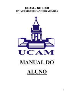 MANUAL DO ALUNO - Universidade Candido Mendes