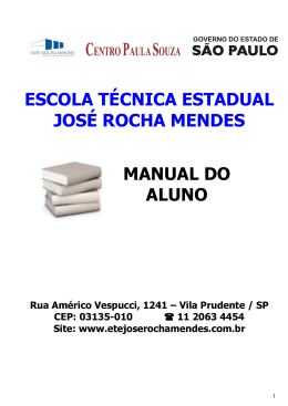 Manual do Aluno - Etec José Rocha Mendes