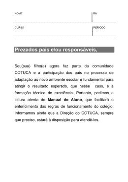 Manual do Aluno - Cotuca