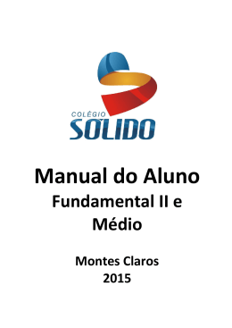 Manual do Aluno - Colégio Sólido
