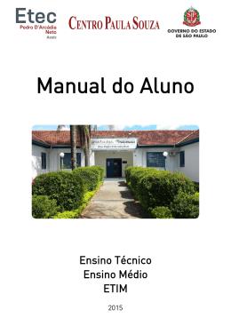 Manual do Aluno - Etec Pedro D`Arcádia Neto