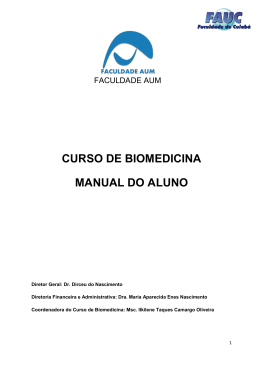 CURSO DE BIOMEDICINA MANUAL DO ALUNO