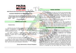 manual do aluno nossa história histórico do ctpm /barbacena