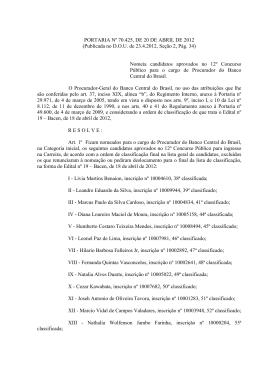 Portaria nº 70.425 - 4ª Nomeação (PDF - 42 KB)