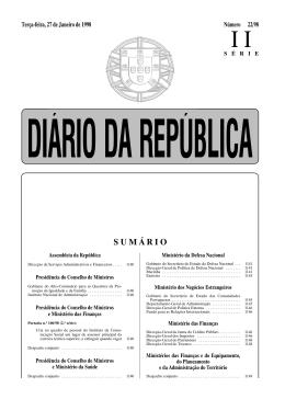 SUMÁRIO - Câmara Municipal de Arouca