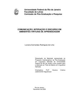 Comunicação, Interação e Discurso em Ambientes - Latec-UFRJ
