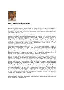 Prof. Luiz Fernando Gomes Soares