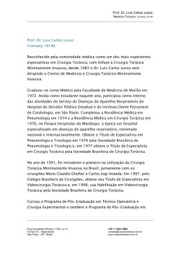 Prof. Dr. Luis Carlos Losso Cremesp 18186 Reconhecido pela