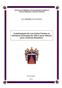A participação de Luís Carlos Prestes na Intentona