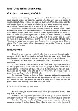 Elias - João Batista - Allan Kardec