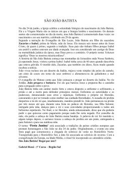 SÃO JOÃO BATISTA - uniaodefamilias.com.br