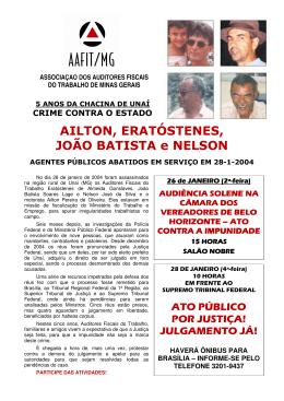 AILTON, ERATÓSTENES, JOÃO BATISTA e NELSON