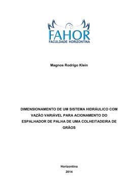 dimensionamento de um sistema hidráulico com vazão variável