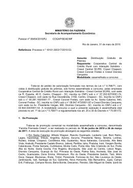 MINISTÉRIO DA FAZENDA Secretaria de Acompanhamento
