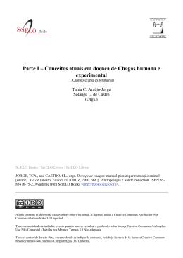 Parte I – Conceitos atuais em doença de Chagas