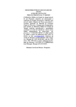 Aviso de Licitação nº PP 040/2015 - Ministério Público do Estado do