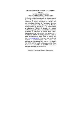Aviso de Licitação nº PP 039/2015 - Ministério Público do Estado do