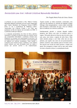 Entrevista com Dra. Márcia Cristina Bernardes