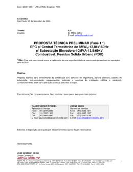 Proposta Tecnica Areva Koblitz - Fundação Estadual do Meio