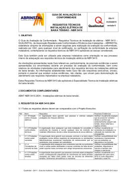 GA11 - Requisitos Técnicos Instal. Elétrica - NBR 5410