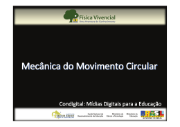 Mecânica do Movimento Circular