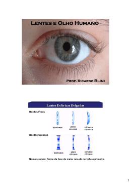 Lentes e Olho Humano