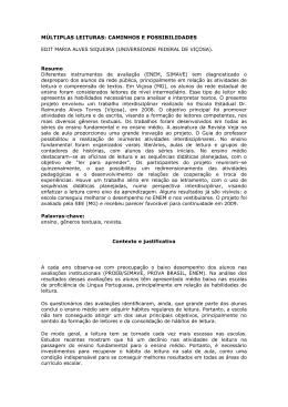 MÚLTIPLAS LEITURAS: CAMINHOS E POSSIBILIDADES EDIT