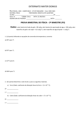 p3 física 2ª série - Professora Renata Quartieri